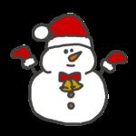 クリスマスバージョンの雪だるま