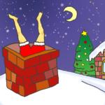 クリスマスの夜の事件のイラスト