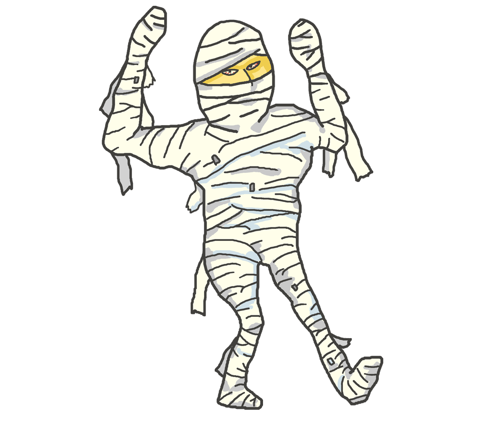 踊る包帯人間のイラスト