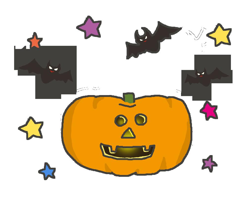 ハロウィンかぼちゃのイラスト