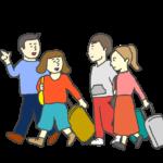 グループ旅行のイラスト