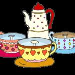 遊園地のコーヒーカップのイラスト