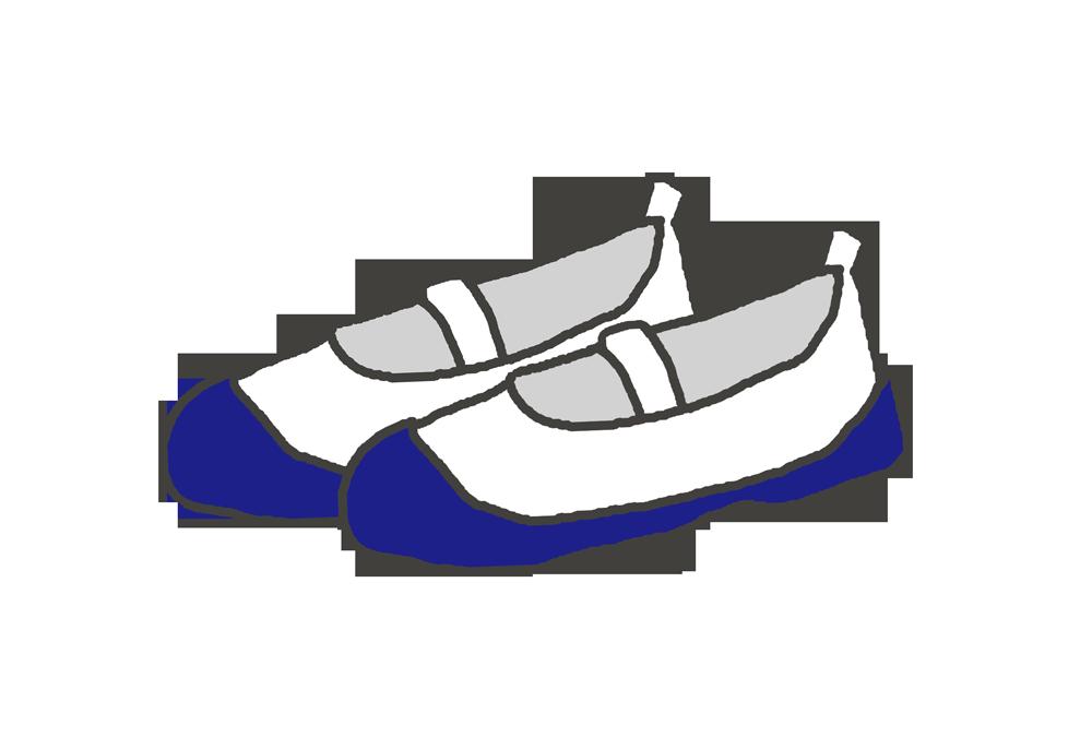 青い上靴のイラスト