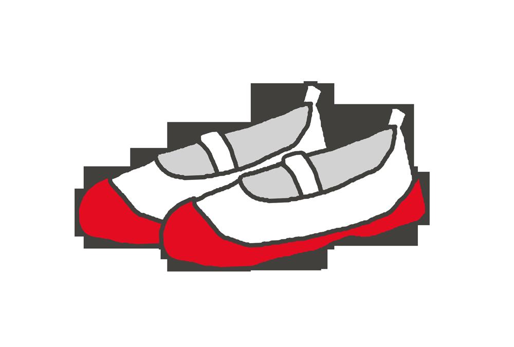 赤い上靴のイラスト