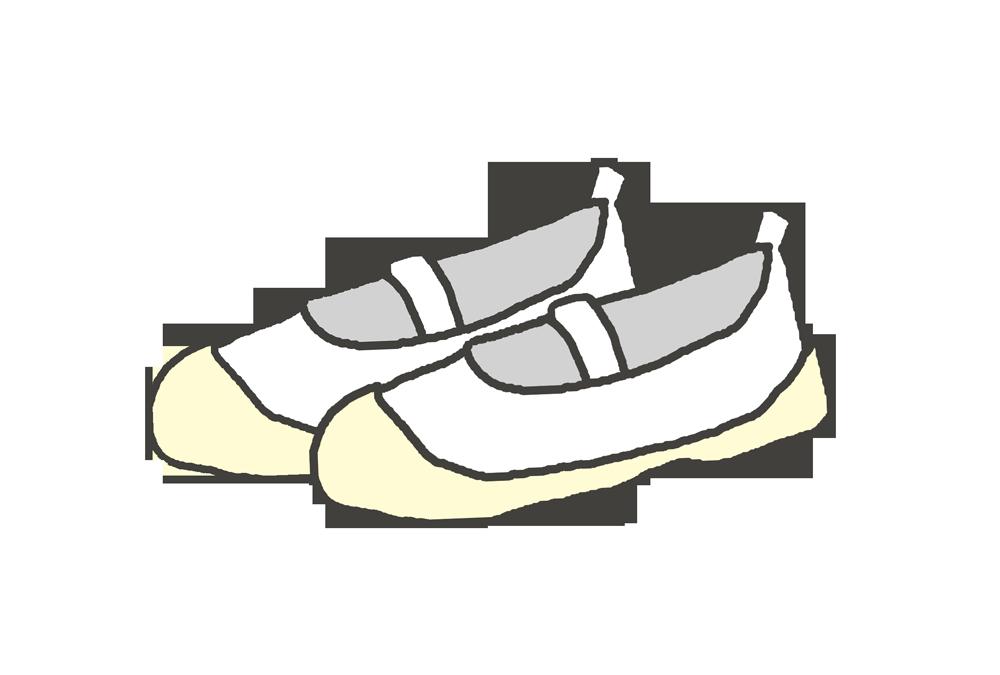 白い上靴のイラスト