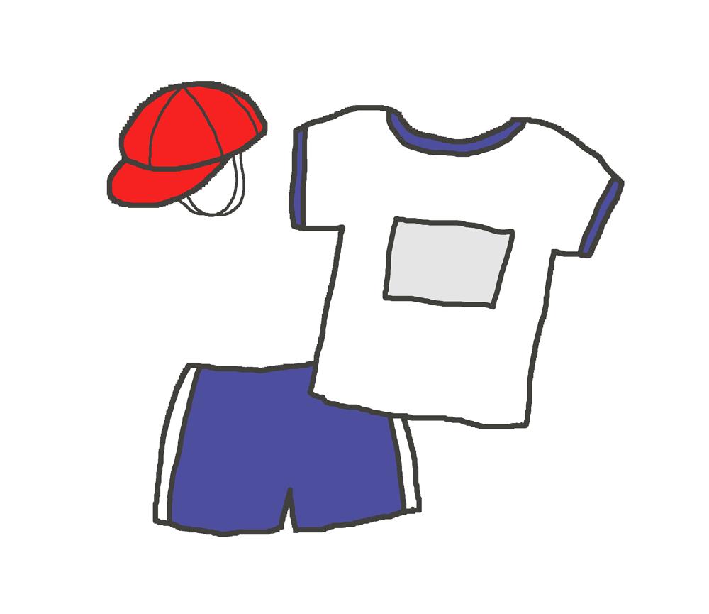 紺色の体操着のイラスト