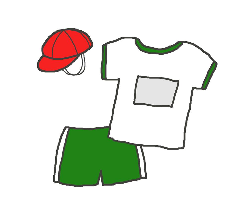 緑の体操着のイラスト