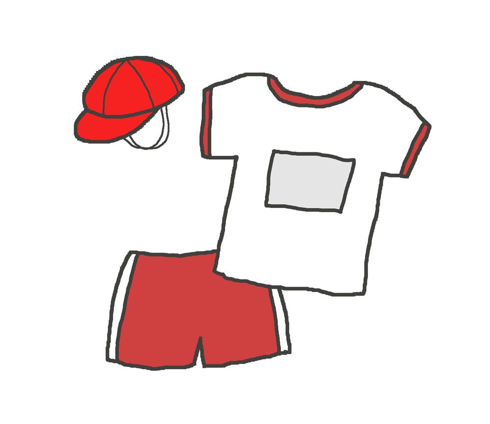 あずき色の体操着のイラスト