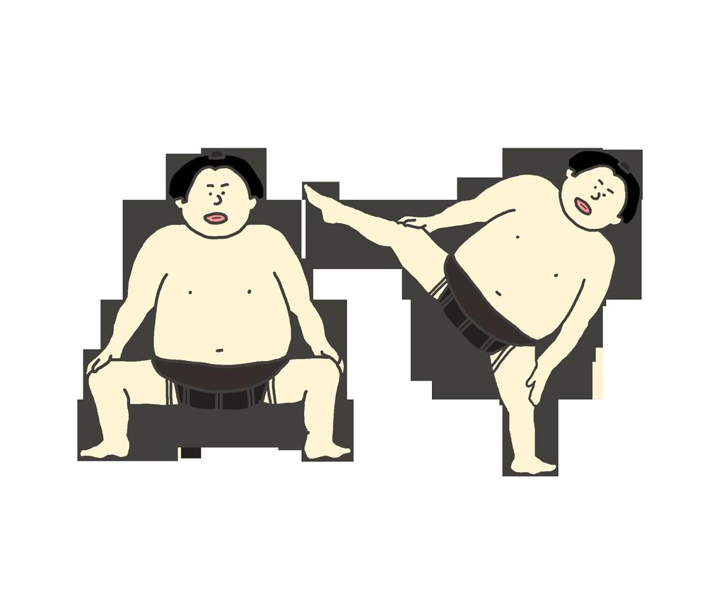 相撲の四股踏みのイラストアイキャッチ