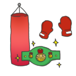 ボクシング道具のイラスト