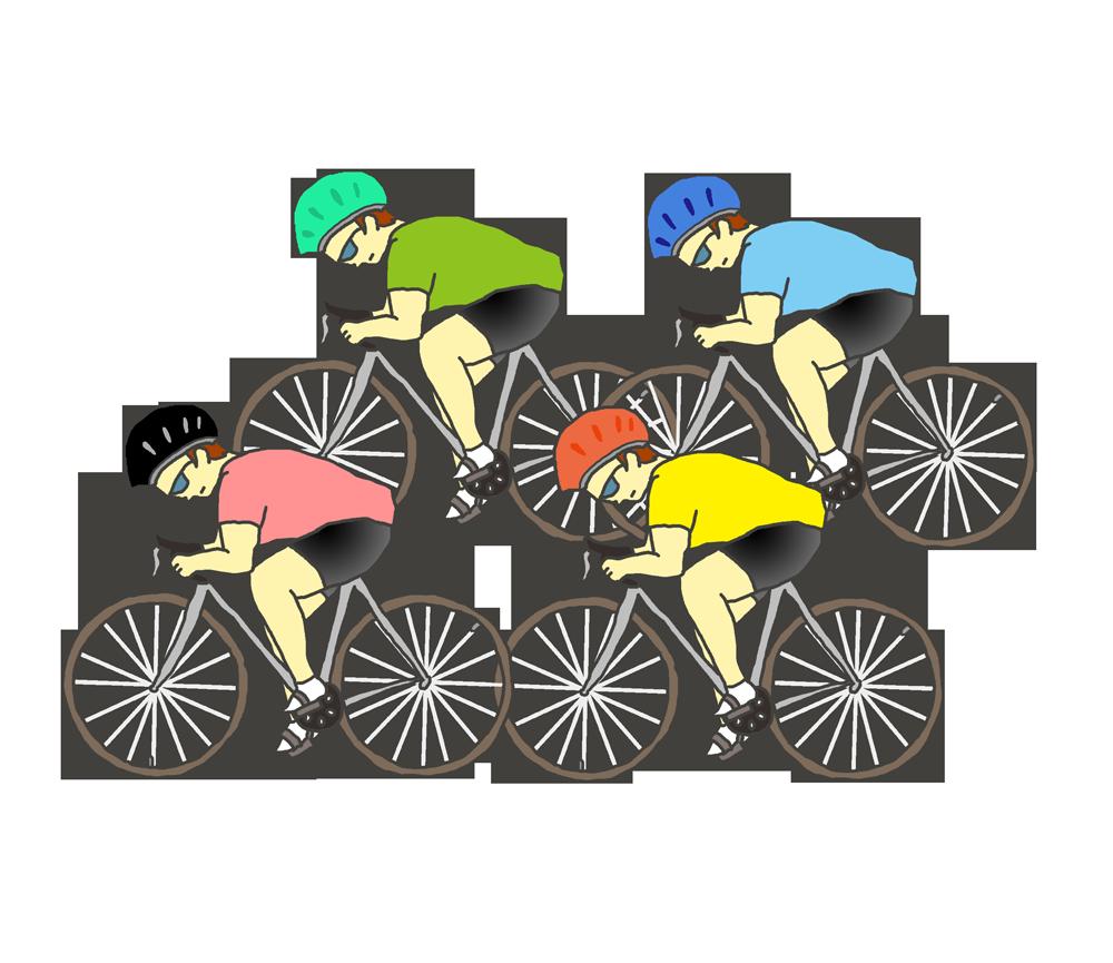 自転車競技のイラスト