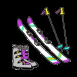 スキー道具のイラスト