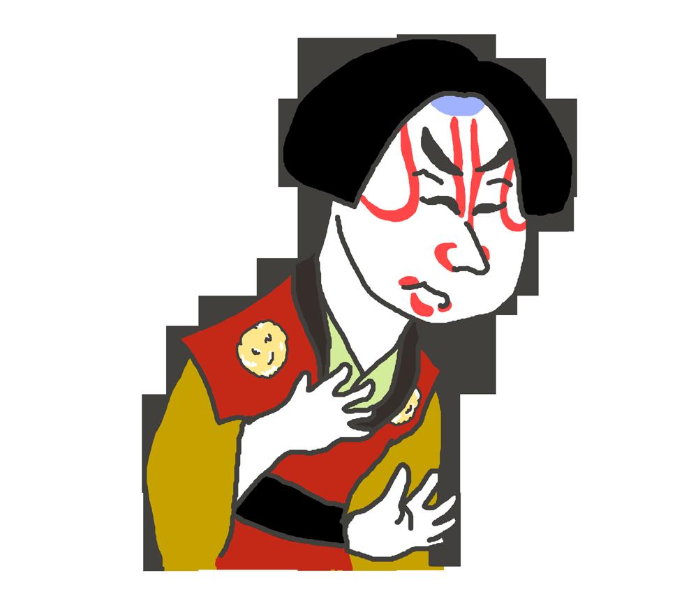 歌舞伎役者のイラスト