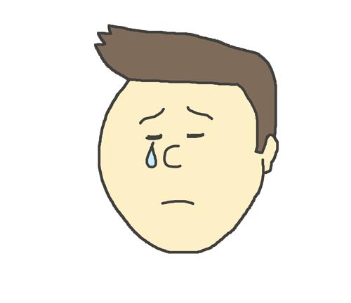 哀しんでいる表情の男性