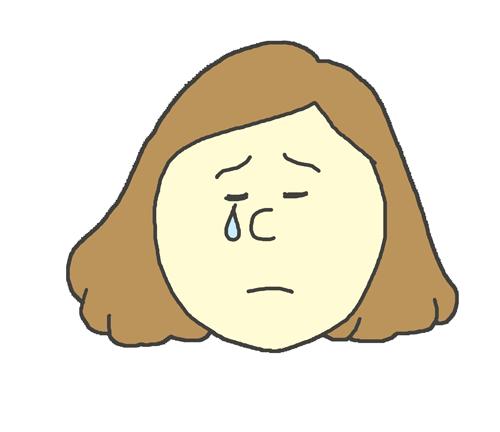 哀しみの表情をする女性