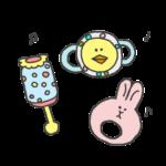 赤ちゃんのためのおもちゃのイラスト