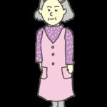 おばあさんのイラスト(立ち姿)