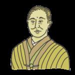 福沢諭吉の似顔絵イラスト