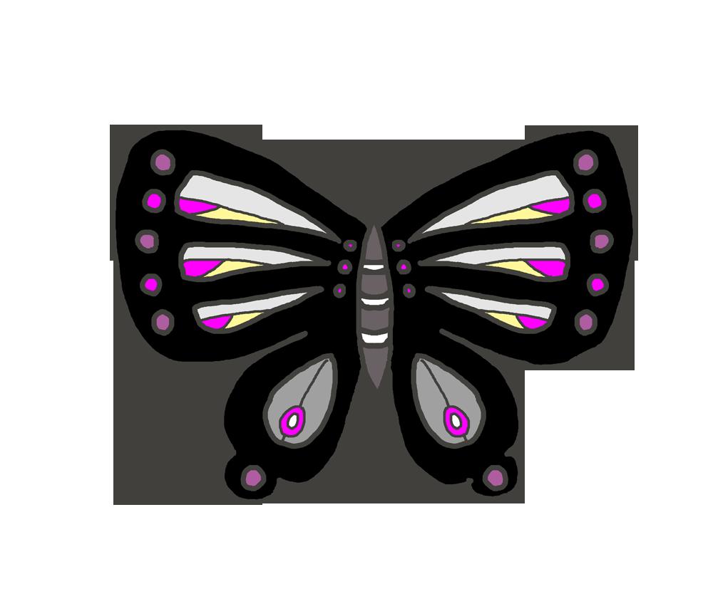 黒い蝶のイラスト