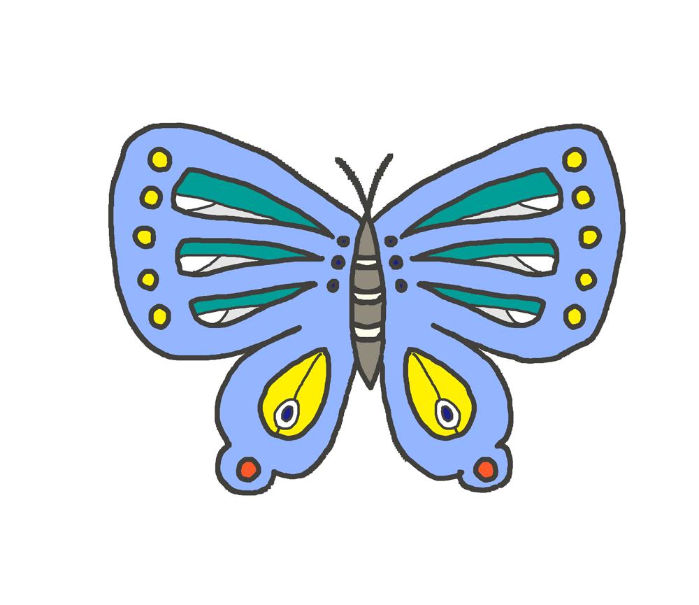 青い蝶のイラスト