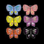色々な色の蝶のイラスト