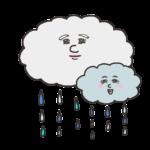 恵みの雨のイラスト