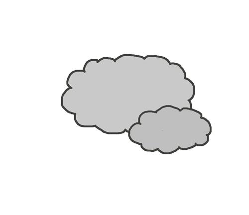 曇りマークのイラスト