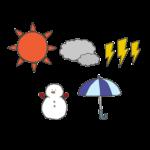 色々なお天気マークのイラスト