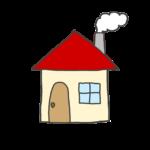 赤い屋根の家のイラスト