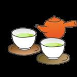 日本茶と急須のイラスト