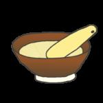 すり鉢とすりこぎのイラスト