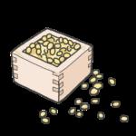 節分豆のイラスト