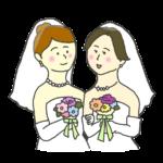 同性婚のイラスト(女性)