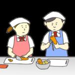 調理実習のイラスト