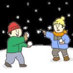 雪合戦のイラスト
