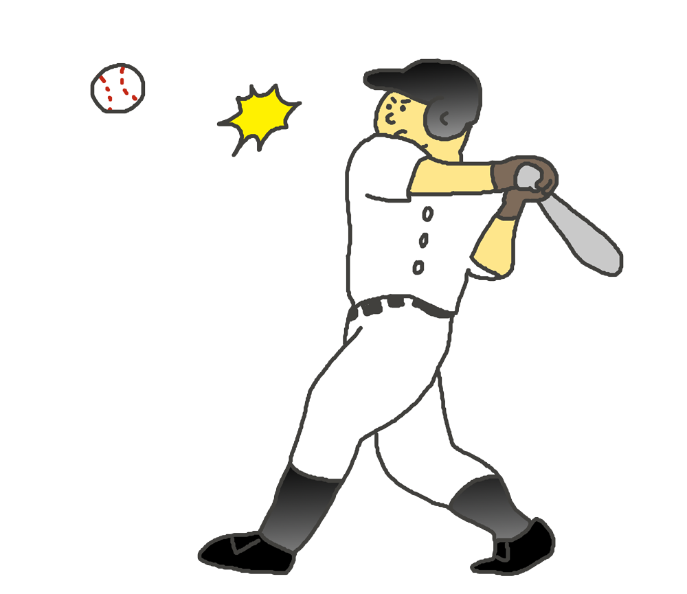 野球バッターのイラスト