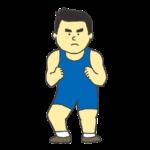 男子レスリング選手のイラスト