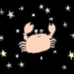パステルカラー蟹座のイラスト