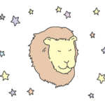 パステルカラー獅子座のイラスト
