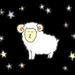 パステルカラー牡羊座のイラスト