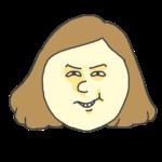 ニヤリ顔の女性のイラスト