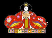ひな祭りのお雛様のイラスト