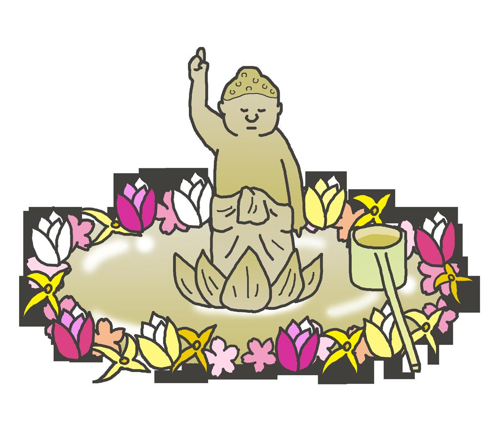花まつりのブッダのイラスト