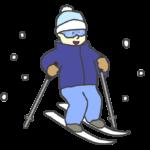 スキーをしている男の子のイラスト