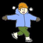 スケートをする男の子のイラスト