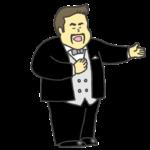 男性オペラ歌手のイラスト