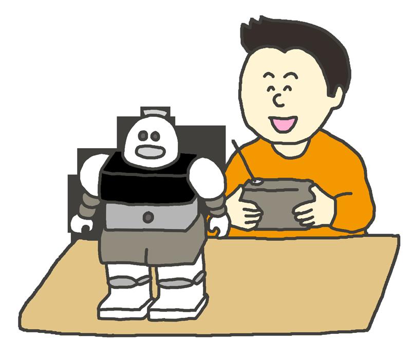 ロボット工作のイラスト