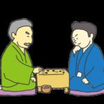囲碁を打つ人のイラスト