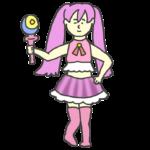 アニメのコスプレをした女の子のイラスト
