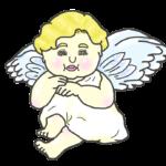目がキラキラの天使のイラスト